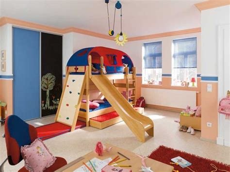 Bunk Beds With Trundle, Slide, And Climbing Wall