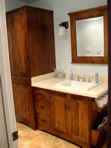 maple cabinet kitchen ideas wormy maple rustic vanity and linen tower
