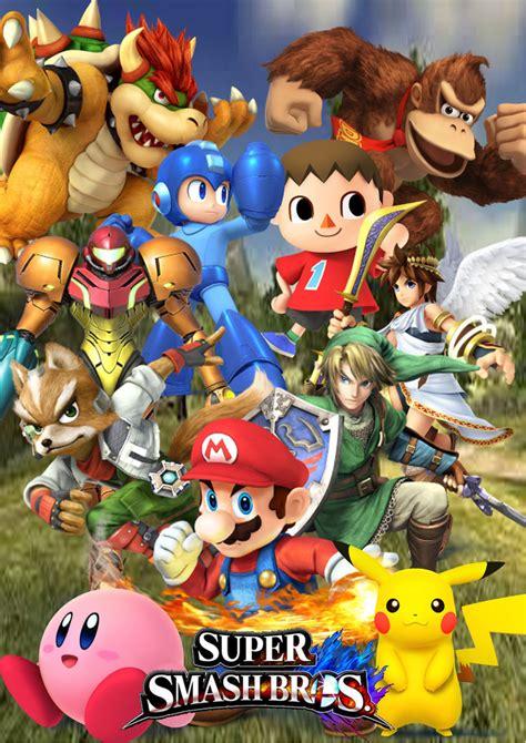 Super Smash Bros 4 Cover By Supersaiyancrash On Deviantart