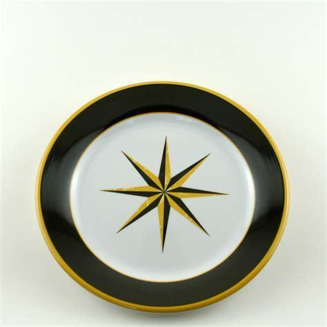 Black Compass Melamine Dinnerware Set