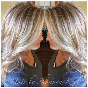 Platinum blonde Hilights and lowlights with little pops of ...