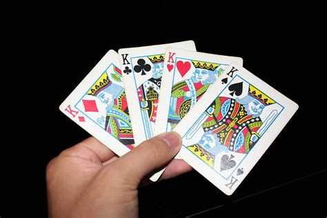 cards  stock photo  hand holding   kings