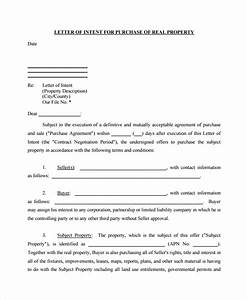 sample letter of intent to purchase property 8 free With letter of intent to purchase property template