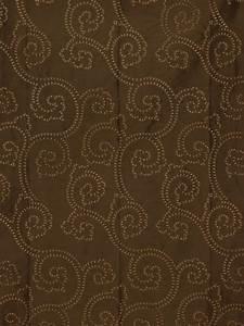 Pleat Box Light Halo Embroidered Scroll Damask Dupioni Silk Custom Made