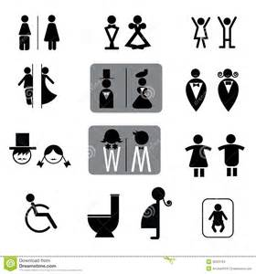 unisex bathroom signs toilet signs vector set different