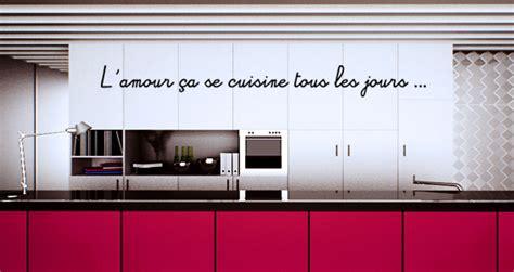 amour et cuisine stickers muraux citation amour et cuisine sticker