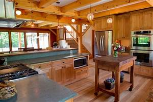 Timber Frame Kitchen with Custom Cabinetry - Modern