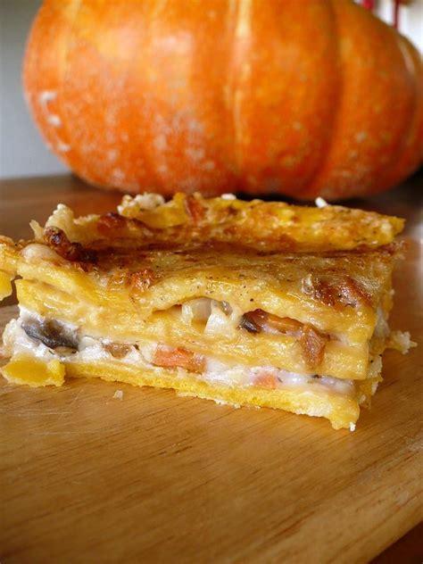cuisine citrouille lasagnes de citrouille aux chignons pour 4 personnes