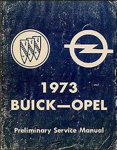 1973 Opel Repair Shop Manual Original Gt  1900  Manta