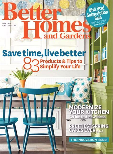 better home and garden download better homes and gardens may 2014 pdf magazine