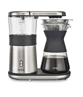 Its stainless steel styling looks great, but. Brim 8-Cup Pour Over Coffee Maker 829486500114   eBay