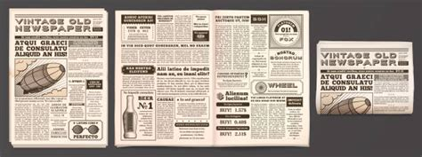 newspaper illustrations royalty  vector graphics