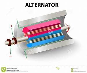 Alternator Stock Vector  Illustration Of Generator  Generation