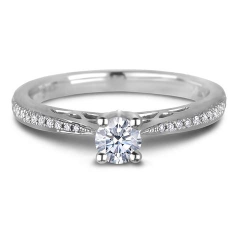 carat canadian diamond engagement ring  white gold
