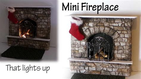 miniature fireplace tutorial polymer clay mixed media
