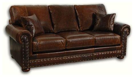 Western Style Leather Loveseat
