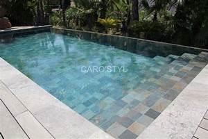 15 best piscines en carrelage green bali images on With carrelage grand format pour piscine