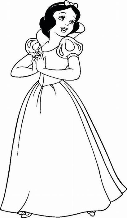 Coloring Snow Disney Pages Princess Printable Princesses