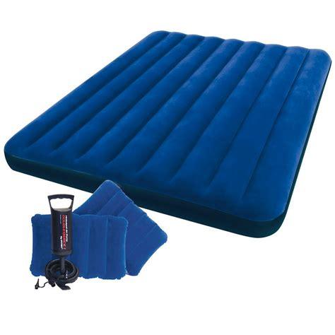 intex inflatable airbed air mattress blow up bed hand pump