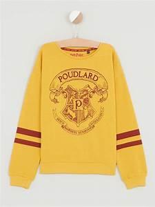 Vetement Harry Potter Femme : sweat harry potter harry potter jaune achat sweat harry ~ Melissatoandfro.com Idées de Décoration