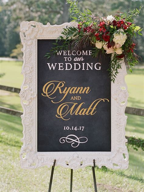 Wedding Signs by This Southern Charmer Wedding Has A Wedding Dress Story