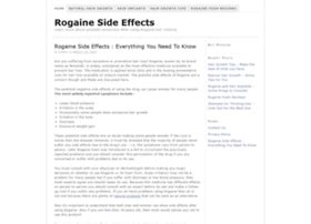 Rogaine Hair Foam Side Effects | Health Products Reviews