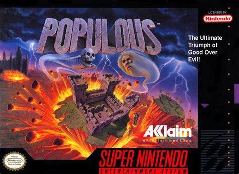 Populous Snes Super Nintendo