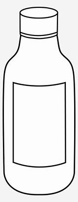 Bottle Coloring Empty Vinegar Clipart Pngkit sketch template