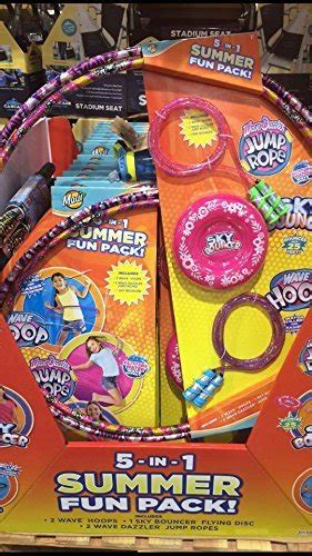 Summer Fun Pack 5 In 1 Includes 2 Hula Hoops/Sky Bouncer