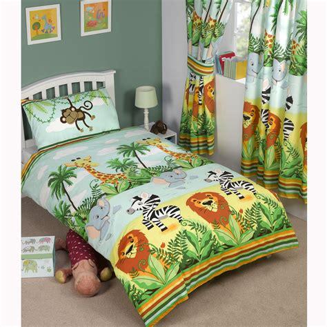 jungle tastic animal themed bedding bedroom single