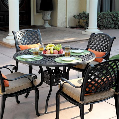 darlee nassau 5 cast aluminum patio dining set with