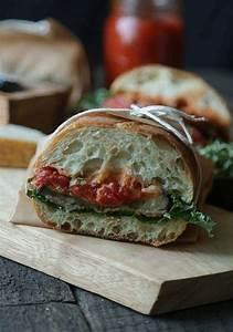 Eggplant Parmesan Sandwich with Kale