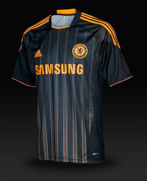 chelsea soccer replica adidas  jersey blacknu orange