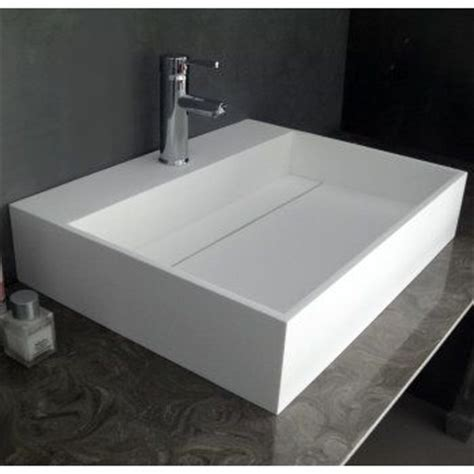kitchen countertop sink duvalli ethos resin square counter top basin sink 1013