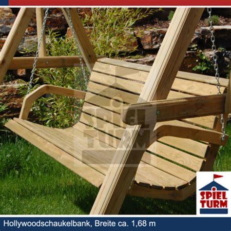 Hoq Hollywoodschaukel Bank Natur Aus Holz Gartenmöbel