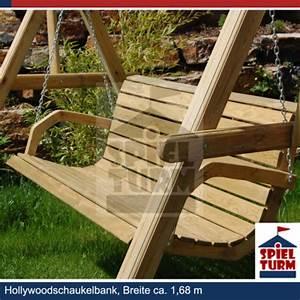 HOQ Hollywoodschaukel Bank Natur Aus Holz Gartenmbel