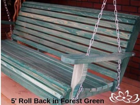 3 Ft Porch Swing by Louisiana Cypress 3 Foot Back Porch Swing