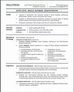 Oracle database administrator sample resume resumepower for Dba resume sample