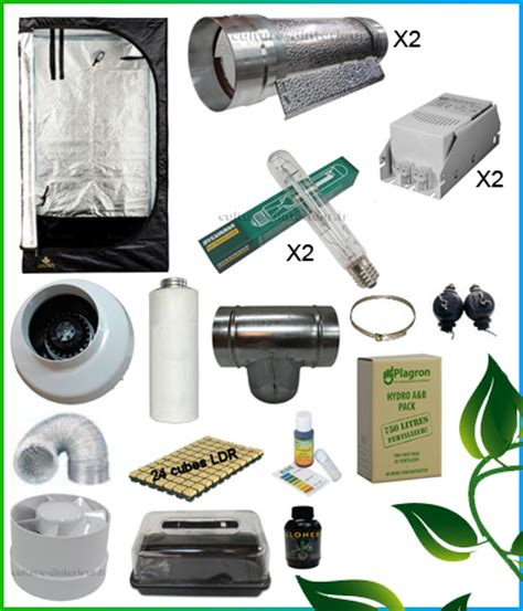 kit complet chambre de culture kit complet 2x400w cooltube box 150 557 10 growshop