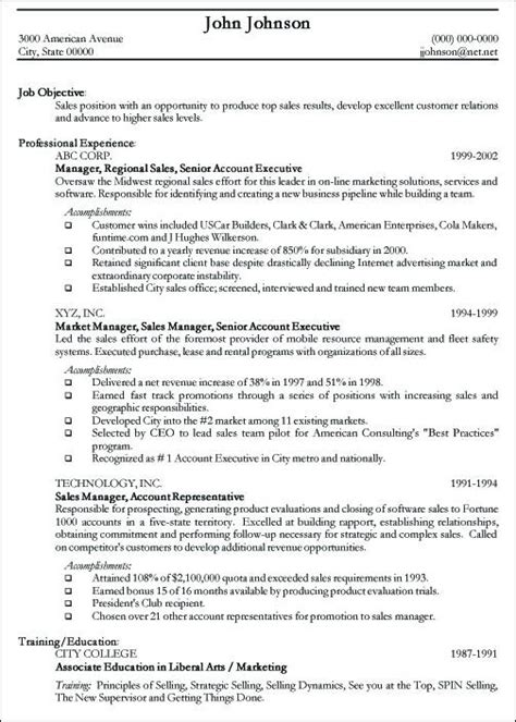 Exles Of Professional Resumes by Professional Resume Sle Free Sle Curriculum Vitae