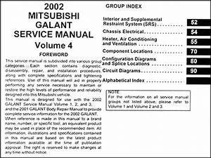 2002 Mitsubishi Galant Repair Shop Manual Set Original