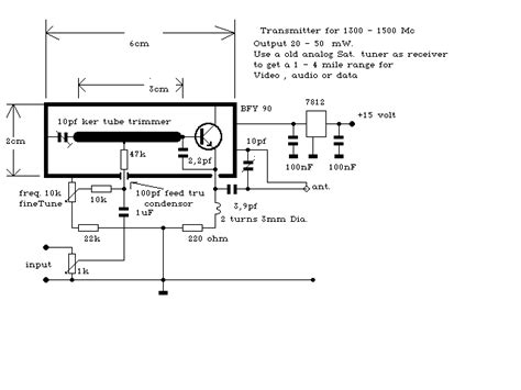 Vcr Antenna Switch Circuit Diagram by Transmitter Electronic Circuits Or Designs