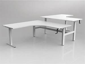Workzone Manual Sit To Stand Corner Desk