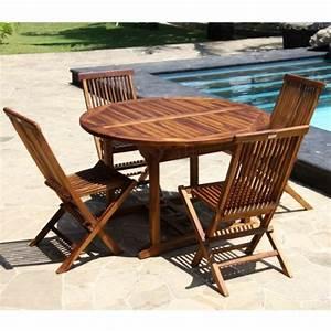 Table Ronde 8 Personnes : salon de jardin teck huil 4 8 personnes table ronde ovale larg ~ Teatrodelosmanantiales.com Idées de Décoration