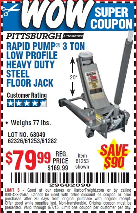 35 Ton Floor Harbor Freight by 28 Low Profile Floor Coupon Harbor Freight