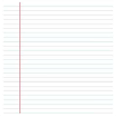 sample notebook paper templates