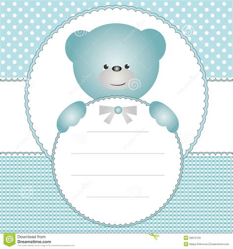 invitation card  teddy bear stock photo image
