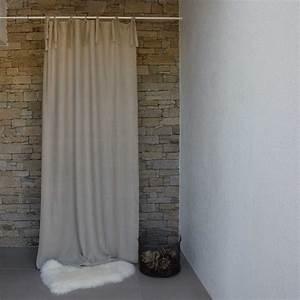 Store En Lin : rideau lin lav pais naturel maison d 39 t ~ Edinachiropracticcenter.com Idées de Décoration