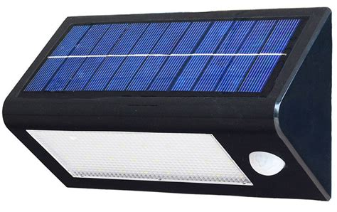 solar panel charged sensor 3w led wall pack outdoor