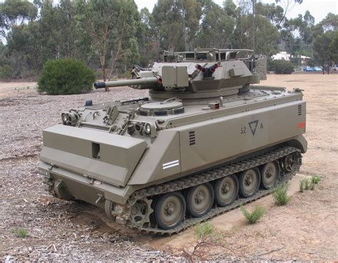 Australian M113 Fire Support Vehicle At Puckapunyal Army